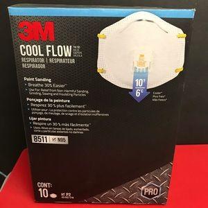 3M 8511 cool flo PRO respirator mask 10ct